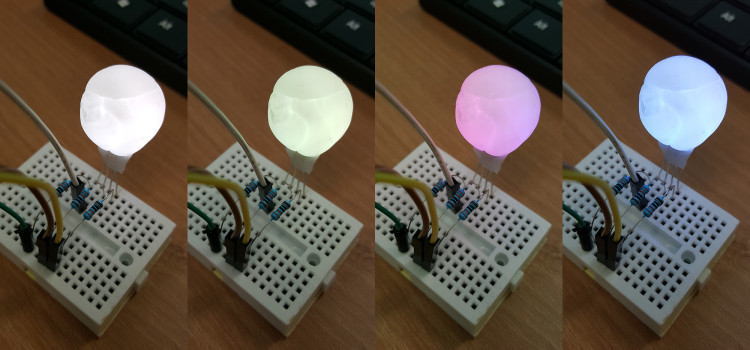Pastel color LED light bulb using Plastimake