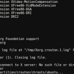 크롬북에서 Ubuntu 실행 시 No Screens Found 에러 해결 방법