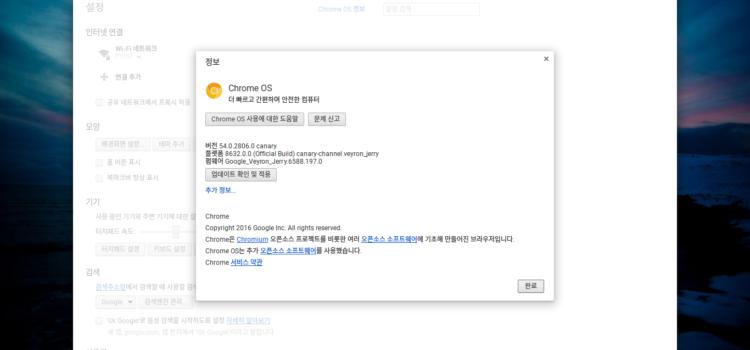 Chrome OS Canary 채널 사용하기